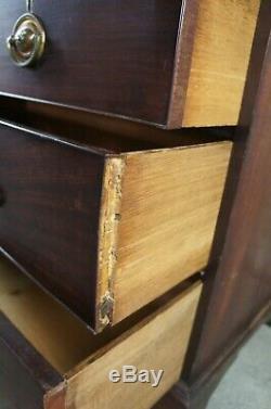 18th Century Mahogany Georgian Chest of Drawers Antique English Dresser