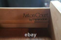 1987 Henredon Aston Court Georgian Olive Burl Mahogany Dresser Chest of Drawers