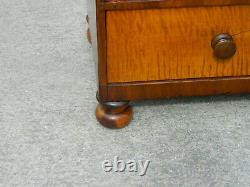 19th Century Mahogany and Maple Four Drawer Chest