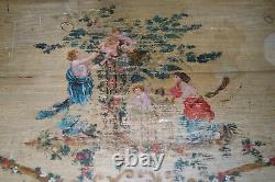 19th century Bombe Commode Chest french nude Cupid painting