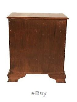 20th C Chippendale Antique Style 4 Drawer Mahogany Bachelors Chest / Dresser