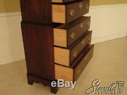 28502E BARTLEY COLLECTION Narrow Chippendale Mahogany 2 Piece Chest On Chest