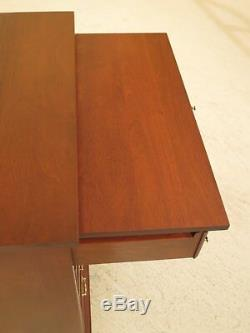 46666EC CRAFTIQUE 4 Drawer Mahogany Bachelor's Chest w. Pull Out Slide