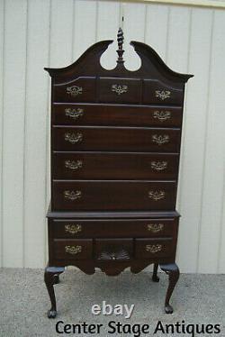 59420 ETHAN ALLEN Georgian Court High Boy Dresser Chest