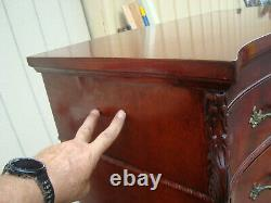 60449 Antique Mahogany Bedroom Set High chest dresser with Mirror + Full size be