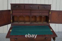 61066 Antique Empire 2 pc Desk Chest Dresser