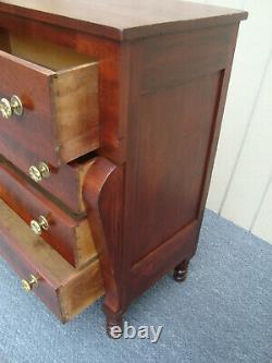 61313 Antique Empire Mahogany High Chest Dresser