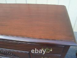 61323 Antique Mahogany Cedar Blanket Chest with Drawer