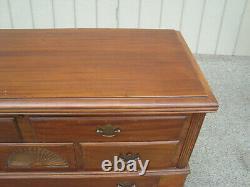 61500 Antique Mahogany Cedar Lined Cedar Chest Blanket Storage Cabinet +Drawer