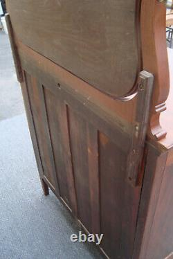 61683 Antique Mahogany High Chest with Mirror