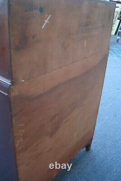 61704 Antique Mahogany Inlaid High Chest Dresser WILLIAMSPORT Furniture