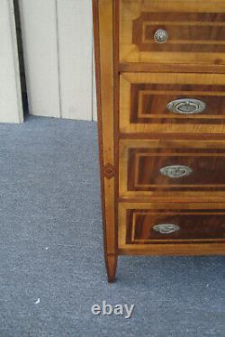 61831 Banded Mahogany High Chest Dresser Cabinet