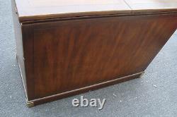 61865 Oriental CAMPAIGNE HENREDON Sideboard Server Cabinet Bar Cart Chest