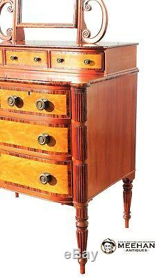 American Federal Chest of Drawers with Mirror Winterthur Museum Reproduction