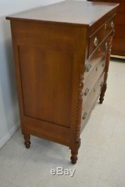American Sheraton Mahogany Four Drawer Chest