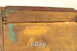 ^ Antique 1790's Georgian Mahogany Veneered Wood Tea Caddy Box Chest w. Drawer