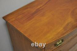 Antique 19th C. Hepplewhite Bow Front Mahogany English Chest of Drawers Dresser