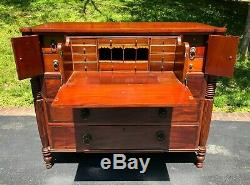 Antique 19th Century Empire Butler's Chest Shipping Available