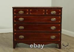 Antique 19th Century English Mahogany Inlaid Hepplewhite Chest of Drawers