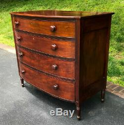 Antique 19th Century Federal Sheraton Chest of Drawers Shipping Available