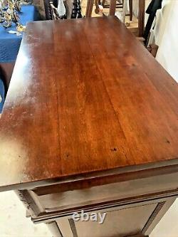 Antique American Butler's Desk Chest of Drawers Crotch Flame Mahogany Federal