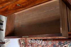 Antique Danish Biedermeier Chest Of Drawers Tallboy 19th Century Flamed Mahogany