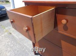 Antique Dresser Chest Drawers Mahogany Vintage Tallboy Highboy Traditional