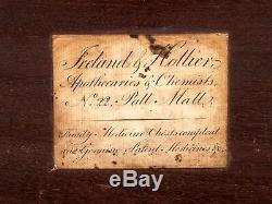 Antique Duke of York Medicine Chest / Apothecary Cabinet Circa 1800