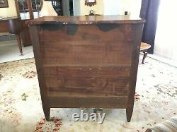 Antique Early 1800 Empire Solid Cherry & Mahogany Tall Chest of Drawers Dresser