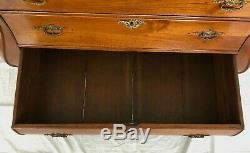 Antique Early 1800's Dutch Mahogany Bombay Chest Drawers with Paw Feet
