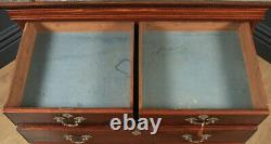 Antique English Georgian Chippendale Mahogany Inlaid Tallboy / Chest on Chest