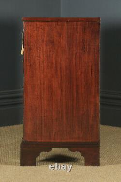 Antique English Georgian Mahogany Chest of Drawers Tallboy (Circa 1790)