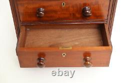 Antique English Miniature Mahogany Chests, Pair
