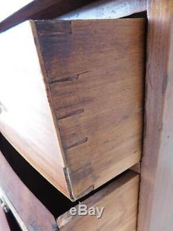 Antique Hepplewhite Mahogany 4 Drawer Bureau Chest