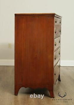 Antique Hepplewhite Style Banded Mahogany Butlers Chest