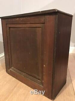 Antique Inlaid Mahogany Table Top Chest of Drawers Cabinet