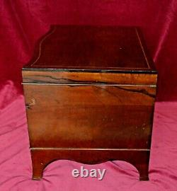 Antique Joseph Rogers Mahogany Chippendale Style Cutlery Canteen Chest