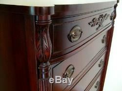 Antique Mahogany American Colonial Regency Empire Style Chest of Drawers