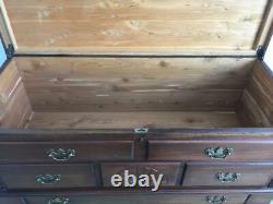 Antique Mahogany Cedar Blanket Chest