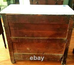 Antique Mahogany DRESSER Chest American 1880