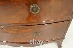 Antique Mahogany Dresser, Early 19th Century, Bow Front Chest Of Drawers, B2076