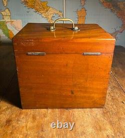 Antique Mahogany Edwardian Dentist Dental Cabinet Chest And Tools C1910