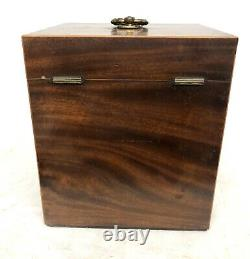 Antique Mahogany Fitted Apothecary Chest Cabinet Complete with Bottles Etc