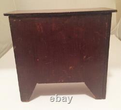 Antique Mahogany Miniature Chest of Drawers, Ca 1880