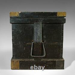 Antique Master Shipwright's Chest, English, Mahogany, Tool Trunk, Victorian