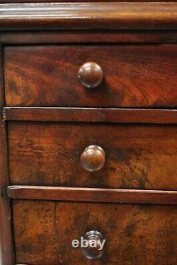 Antique Miniature American Empire Small Mahogany Salesman Sample Chest Dresser