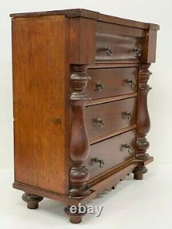 Antique Miniature Chest Drawers Victorian Mahogany Breakfront Apprentice Piece