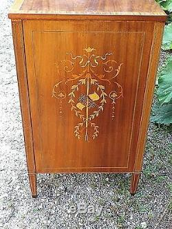 Antique Sheraton Federal Mahogany inlay 4 drawer Chest dresser Museum Quality
