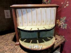 Antique Standing Flatware Chest Wooden Vintage Glastonbury Silverware Cabinet