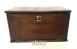 Antique Victorian Mahogany Apothecary Cabinet / Medicine Chest COMPLETE